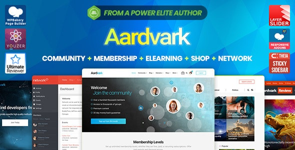 Aardvark 4.26.2 - Community, Membership, BuddyPress Theme