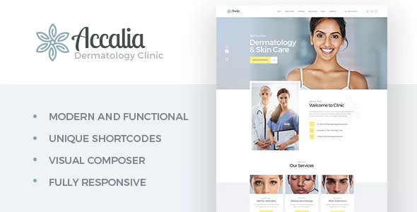 Accalia 1.2.1 - Dermatology Clinic WordPress Theme