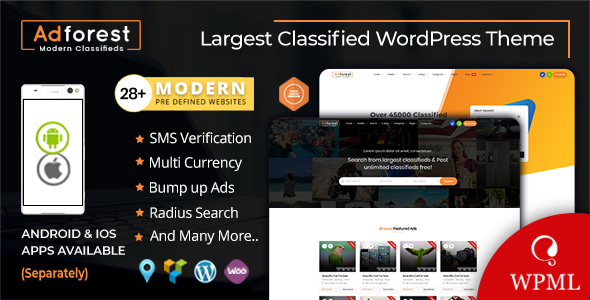 AdForest 4.3.8 Nulled - Classified Ads WordPress Theme