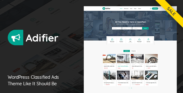 Adifier 3.8.5 - Classified Ads WordPress Theme