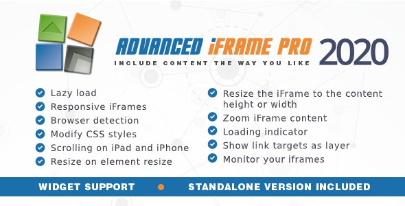 Advanced iFrame Pro 2020.8 - WordPress Plugin