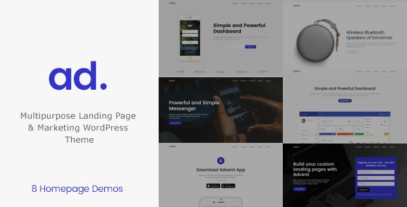 Advent 1.3.5 - Product Landing Page WordPress Theme