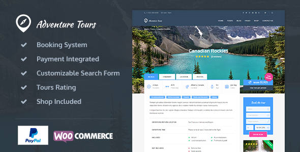 Adventure Tours 4.0.1 - WordPress Tour/Travel Theme