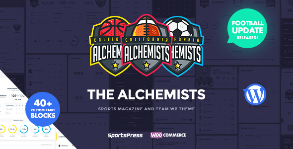 Alchemists 4.3.0 Nulled - Sports, eSports & Gaming Club and News WordPress Theme