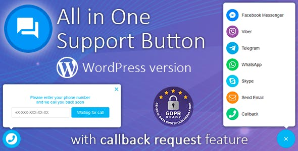 All in One Support Button 1.9.2 Nulled