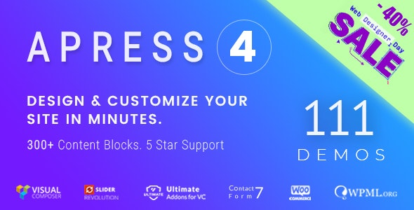 Apress 4.7.3 - Responsive Multi-Purpose Theme