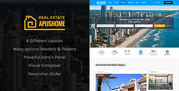 ApusHome 1.7.7 - Real Estate WordPress Theme