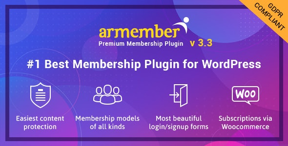 ARMember 3.3.2 (Nulled) - WordPress Membership Plugin