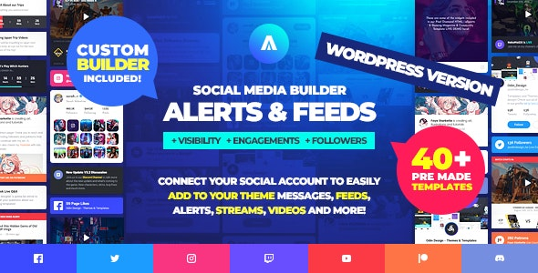 Asgard 1.1.5 (Nulled) - Social Media Alerts & Feeds WordPress Builder
