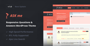 Ask Me 6.3.4 Nulled - Responsive Questions & Answers WordPress
