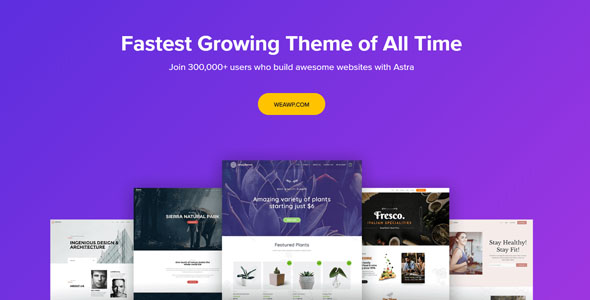 Astra 2.1.3 - Fastest Growing Theme of All Time