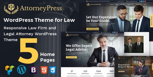 Attorney Press 2.1.2 - Lawyer WordPress Theme
