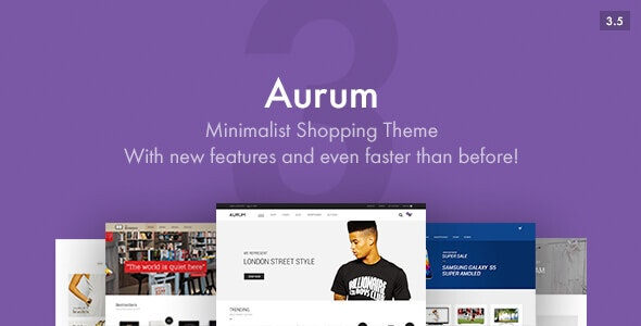 Aurum 3.7.1 - Minimalist Shopping Theme