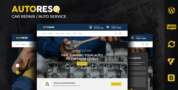 Autoresq 2.1.8 - Car Repair WordPress Theme