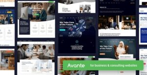 Avante 1.6 Nulled - Business Consulting WordPres Theme