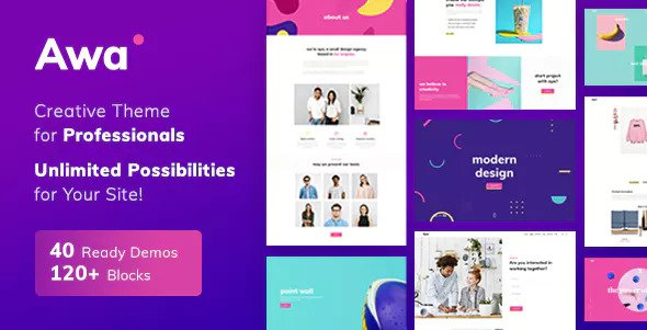 Awa 1.4.4 - Portfolio WordPress Portfolio & Agency