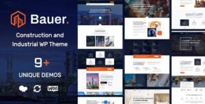 Bauer 1.7 - Construction and Industrial WordPress Theme