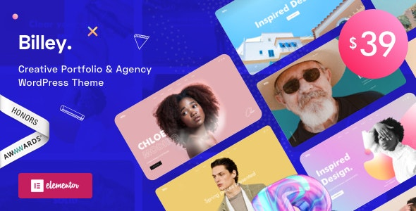 Billey 1.2.1 - Creative Portfolio & Agency WordPress Theme