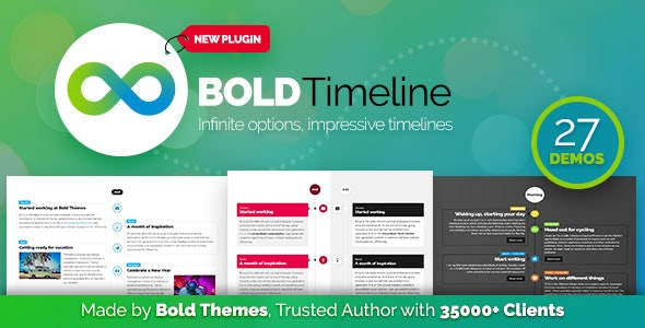 Bold Timeline 1.0.4 - WordPress Timeline Plugin