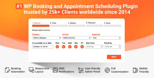Bookly Pro (Add-on) 3.0 Nulled / Bookly 18.7 - Appointment Booking and Scheduling
