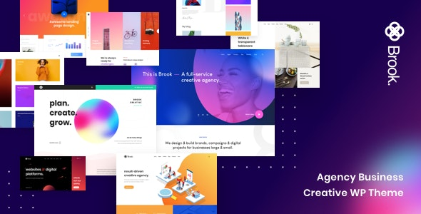Brook 2.1.0 Nulled - Agency Business Creative WordPress Theme