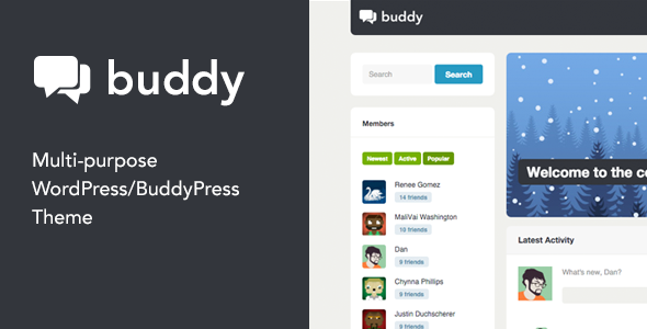 Buddy 2.21.2 -  Simple WordPress & BuddyPress Theme
