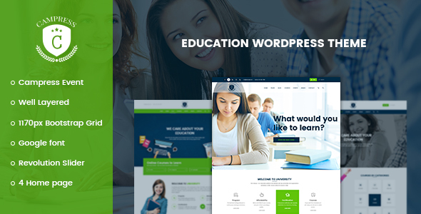 Campress 1.6 - Responsive Education, Courses and Events WordPress Theme