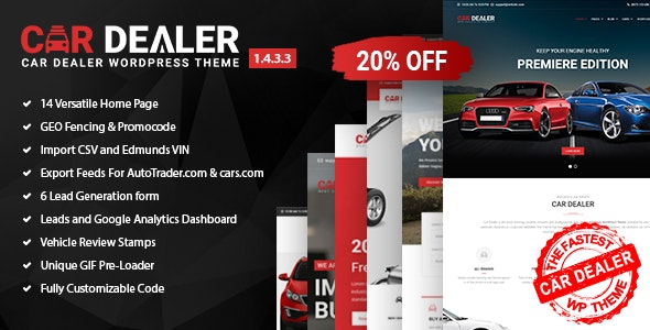 Car Dealer 1.5.6 Nulled - Automotive Responsive WordPress Theme