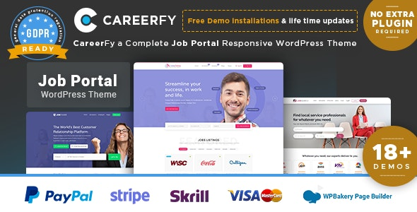 Careerfy 4.6.0 - Job Board WordPress Theme