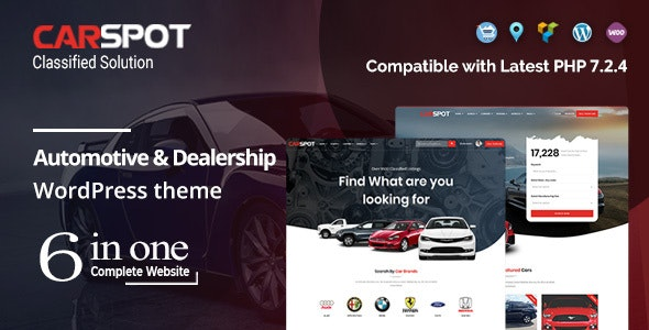CarSpot 2.2.8 - Automotive Car Dealer WordPress Classified Theme