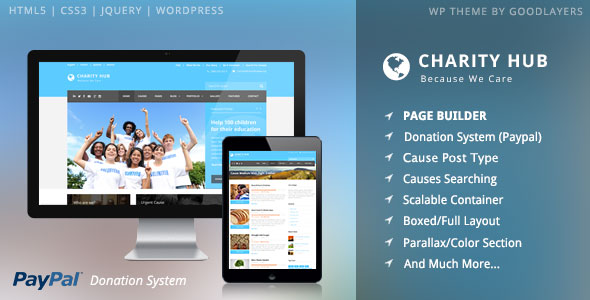 Charity Hub 1.4.0 - Nonprofit / Fundraising WordPress