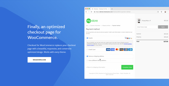 CheckoutWC 3.9.0 Nulled - Checkout for Woocommerce