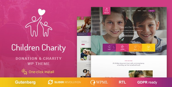 Children Charity 1.1.0 - Nonprofit & NGO WordPress Theme