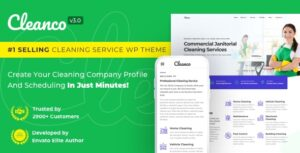 Cleanco 3.1.2 - Cleaning Service Company WordPress Theme