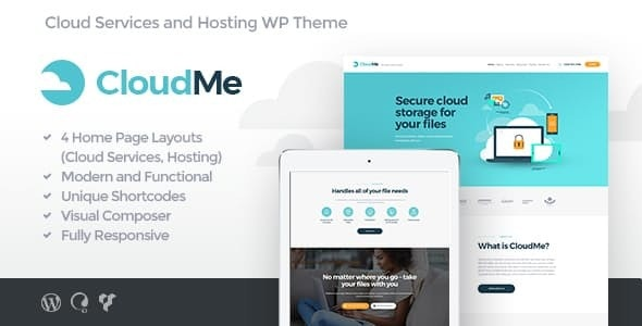 CloudMe 1.2.2 - Cloud Storage & File-Sharing Services WordPress Theme