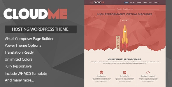 Cloudme Host 1.1.4 - WordPress Hosting Theme