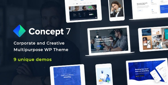Concept Seven 1.6 - Responsive Multipurpose WordPress Theme