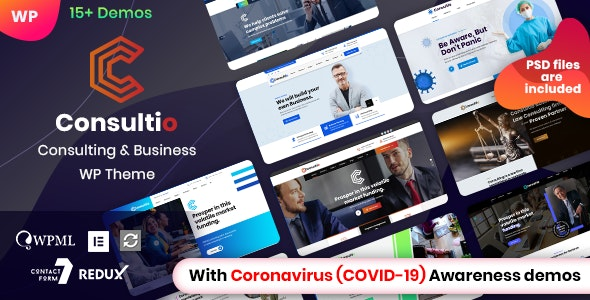 Consultio 1.2.1 - Corporate Consulting WordPress Theme