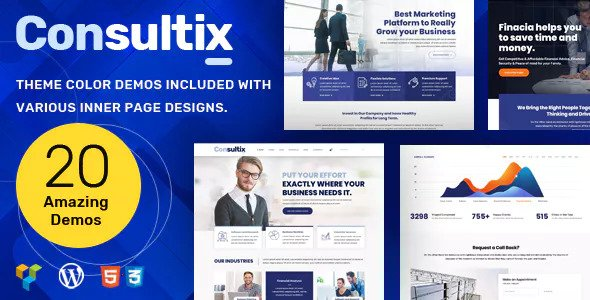 Consultix 2.1.6 Nulled - Business Consulting WordPress Theme