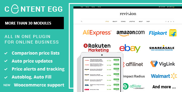 Content Egg 6.7.6 Nulled - All In One Plugin For Affiliate