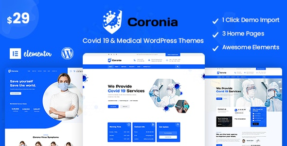 Coronia 1.0.0 - Covid 19 & Medical WordPress Themes