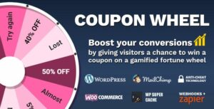 Coupon Wheel For WooCommerce and WordPress 3.3.0