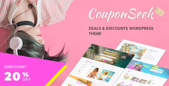 CouponSeek 1.1.4 - Deals & Discounts WordPress Theme