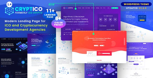 Cryptico 1.4.2 - ICO Crypto Landing & Cryptocurrency WordPress Theme