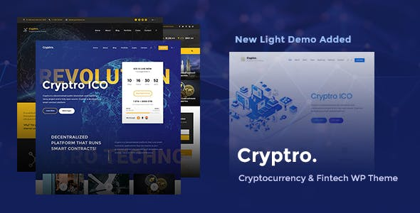 Cryptro 1.3.2 - Cryptocurrency, Blockchain, Bitcoin & Financial Technology WordPress Theme