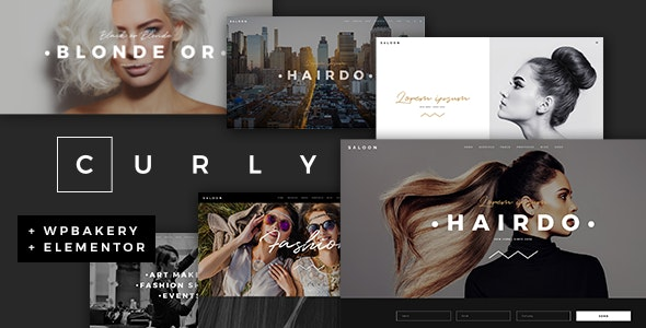 Curly 2.1 - A Stylish Theme for Hairdressers and Hair Salons