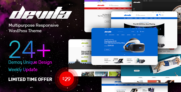 Devita 1.6.8 - Multipurpose Theme for WooCommerce WordPress