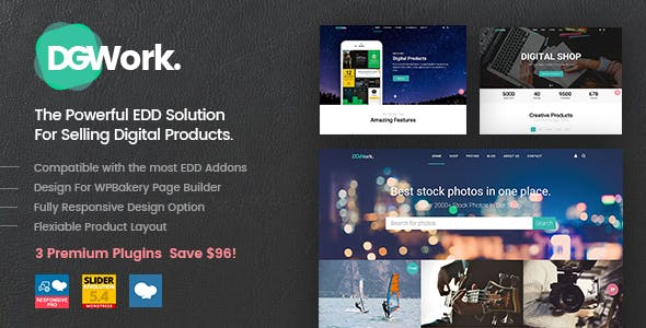 DGWork 1.8.7.5 Nulled - Powerful Responsive Easy Digital Downloads Theme