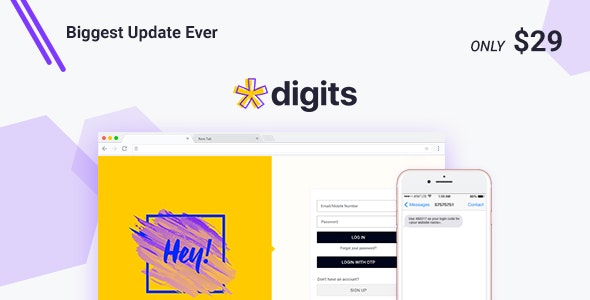 Digits 7.3.4.1 Nulled - WordPress Mobile Number Signup and Login