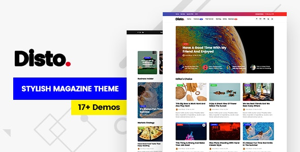 Disto 1.8 - WordPress Blog Magazine Theme